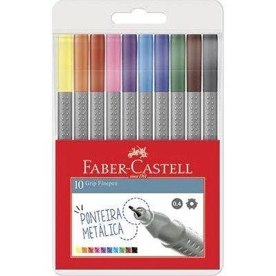 Caneta Grip Fine Pen com 10 cores - Faber-Castell