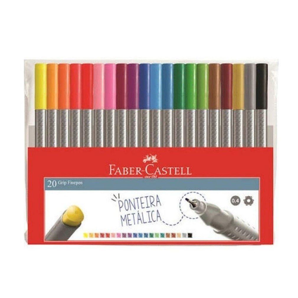 Caneta Grip Fine Pen com 20 cores - Faber-Castell