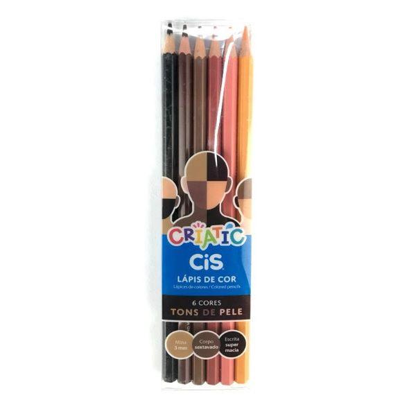 Lápis de Cor Criatic Tons de Pele com 6 cores- CIS