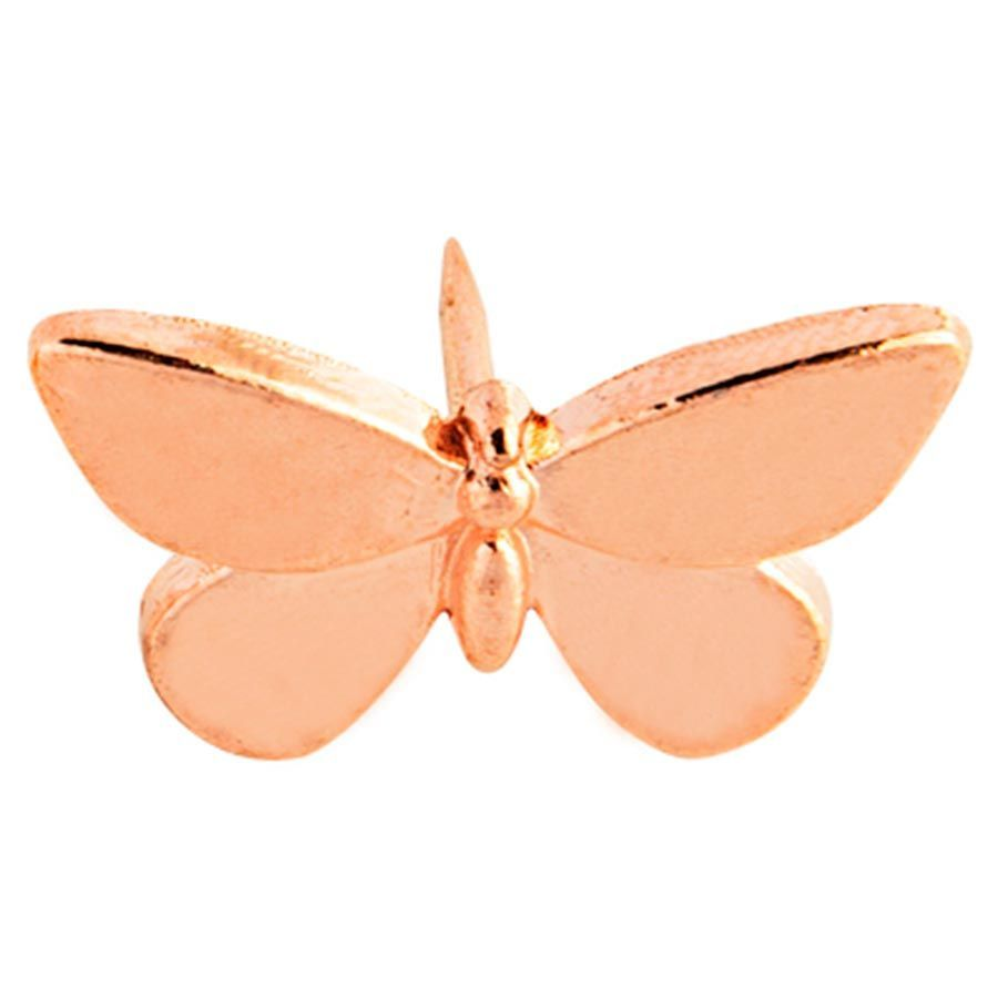 Percevejo Rosé Gold Borboleta - Molin