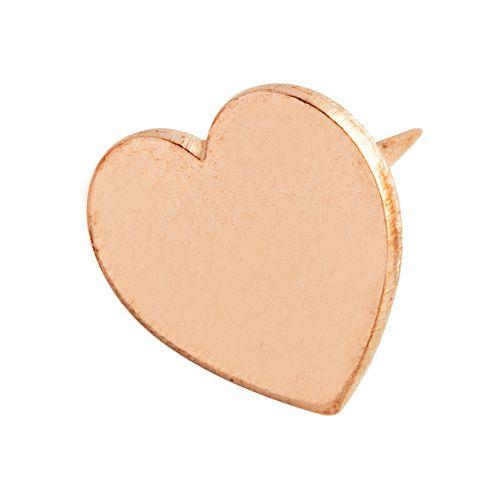 Percevejo Rosé Gold Coração - Molin