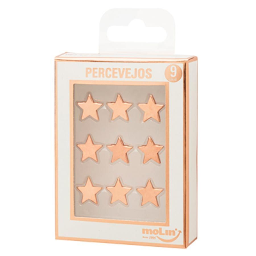 Percevejo Rosé Gold Estrela - Molin