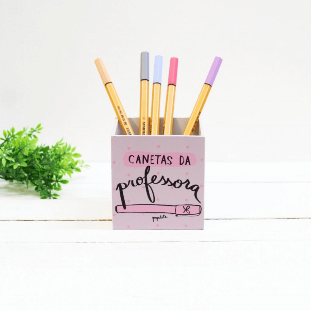 Porta-lápis Canetas da Professora - Papelote