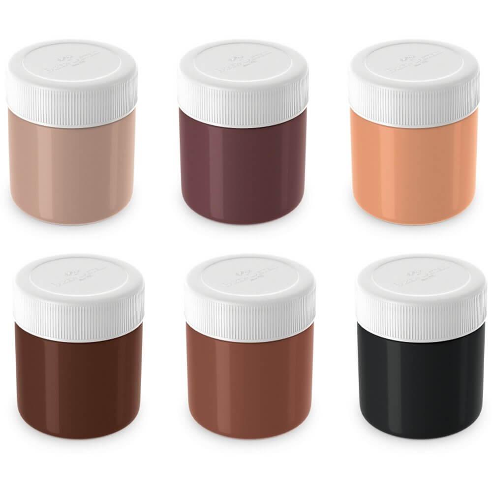 Tinta Guache Caras e Cores com 6 cores - Faber-Castell