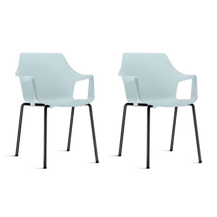 Conjunto com 2 Cadeiras para Cozinha Frisokar Novara com braços