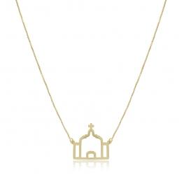 Colar Igreja folheado a ouro 18K