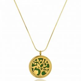 Colar Perfumeiro Árvore da Vida Folheado Ouro 18K