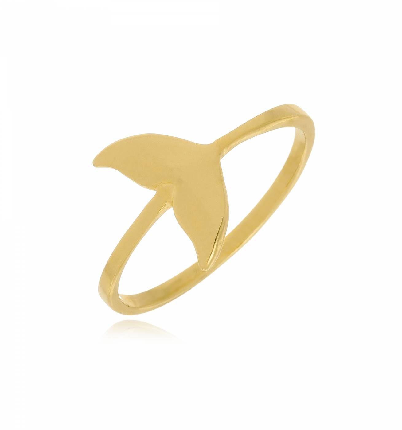 Anel Cauda de Sereia Folheado a Ouro 18K