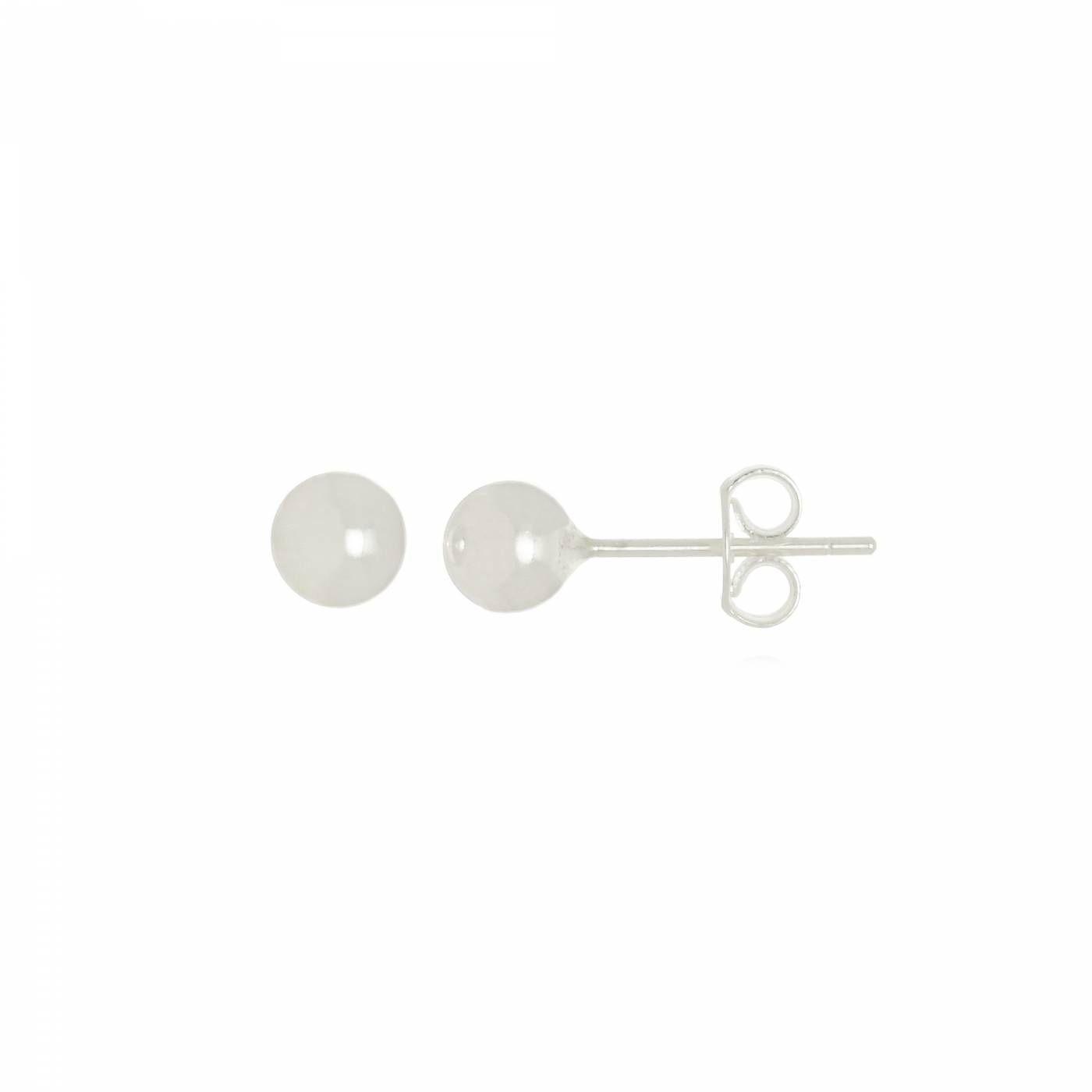 Brinco Esfera em Prata 925