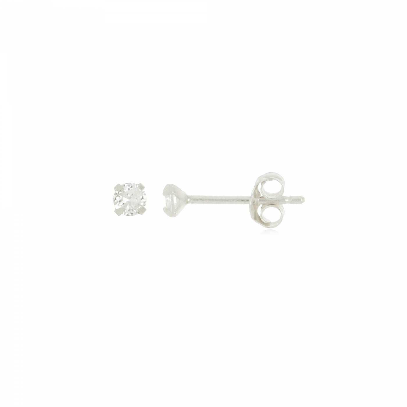 Brinco Mini Ponto de Luz em Prata 925