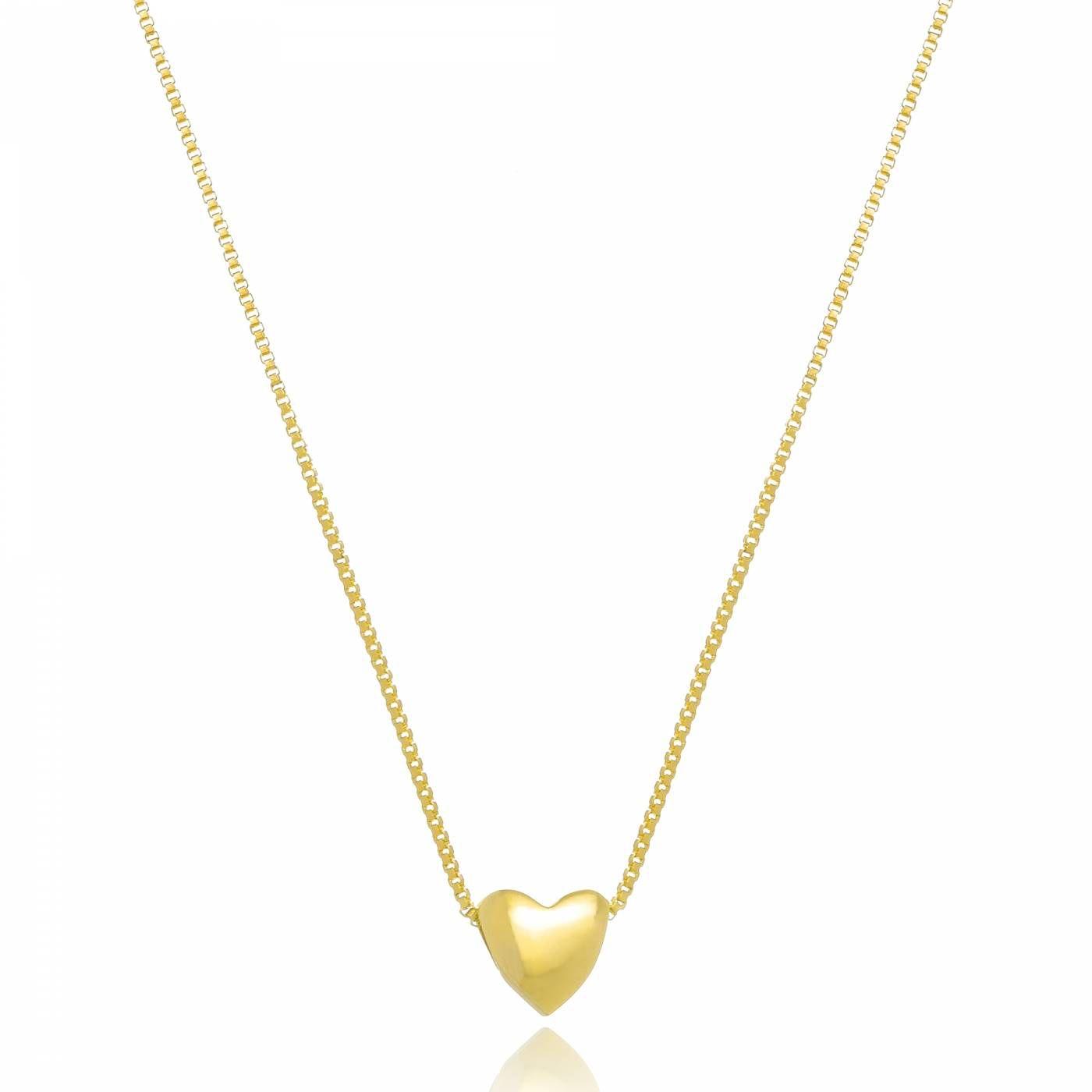 Colar Mini Coração Folheado a Ouro 18K