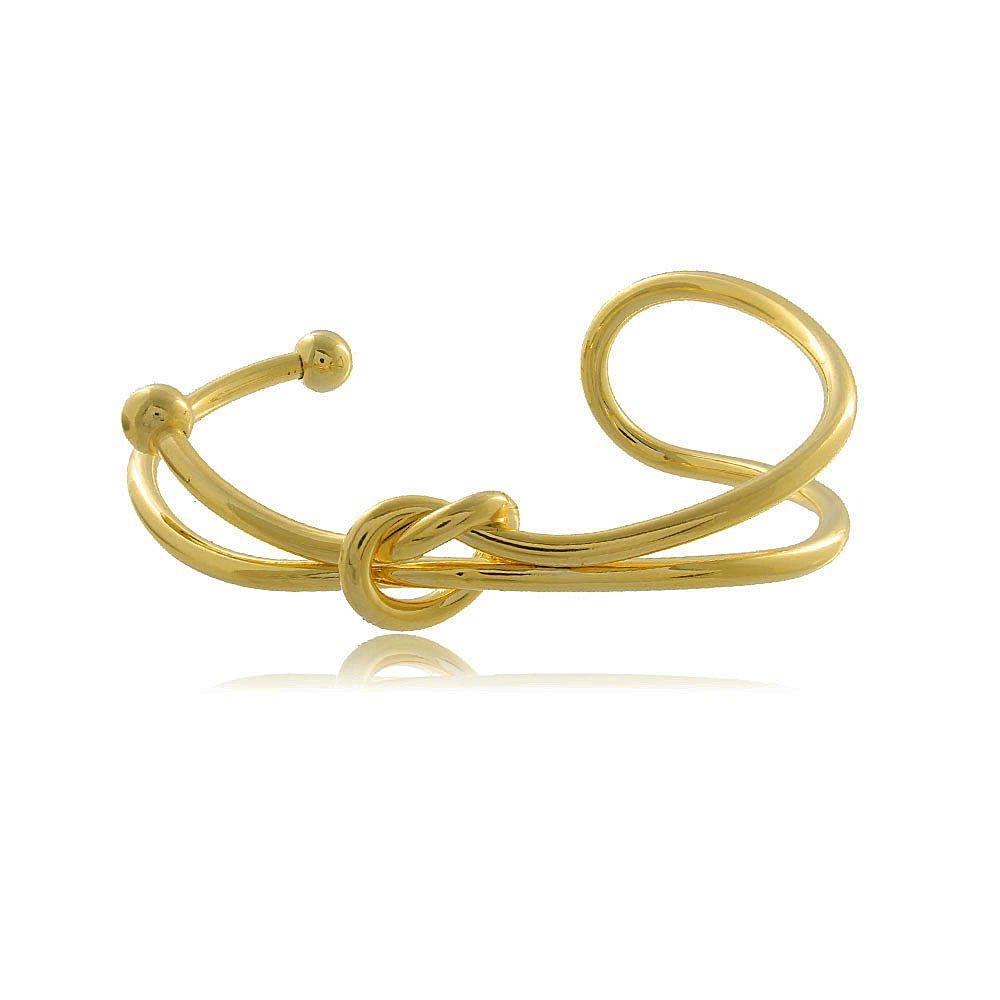Pulseira Bracelete Laço Folheada a Ouro 18K