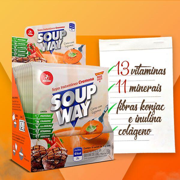 Kit 12 Soup Way • Carne com Legumes • 10 un x 15 g • Black Friday