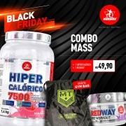 Combo Mass • 1 Hipercalórico + 1 Redway + 1 Gym Bag Grátis • Black Friday