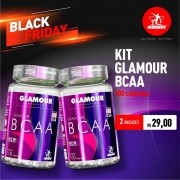 Kit 2 Glamour BCAA • 100 caps • Black Friday