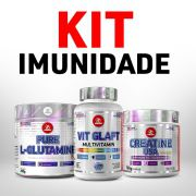 Kit Imunidade - Vit Glaft Multivitamin 90 tabs + L-Glutamine Powder 280g + Creatine USA Powder 100g