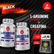 KIT • L-ARGININE + CREATINE GANHE GYM BAG