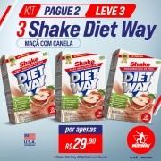 KIT Pague 2 Leve 3 Shake Diet Way 420 g Maçã com Canela
