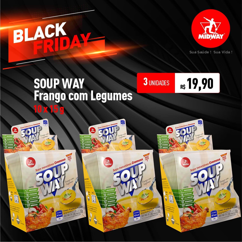 Kit 3 Soup Way • Frango com Legumes • 10 un x 15 g • Black Friday