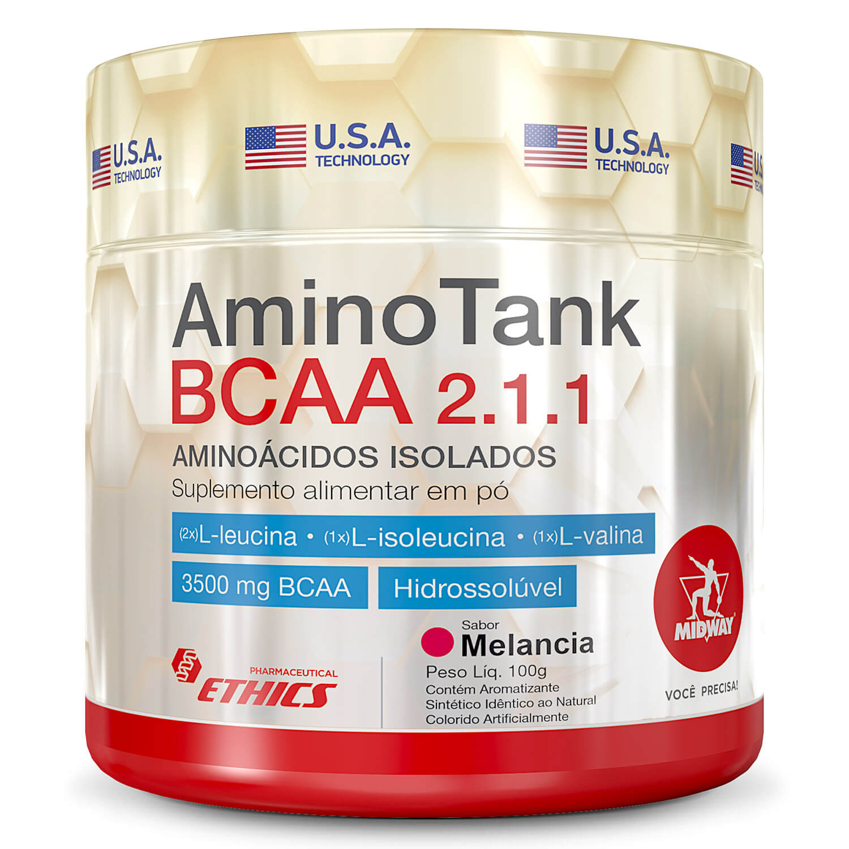 Amino Tank BCAA 2.1.1 100g Sabor Melancia