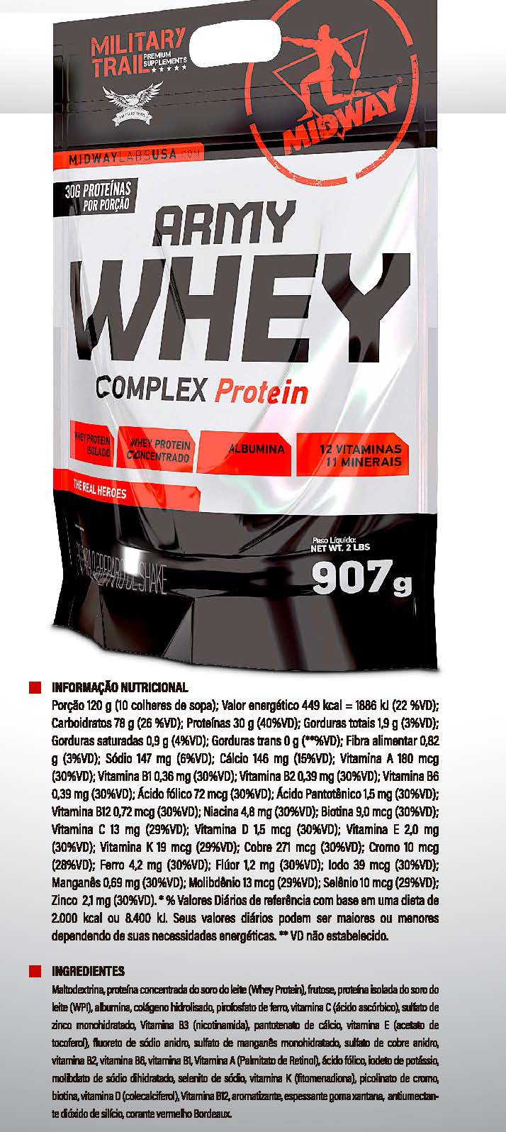 Army Whey Protein Complex 907g
