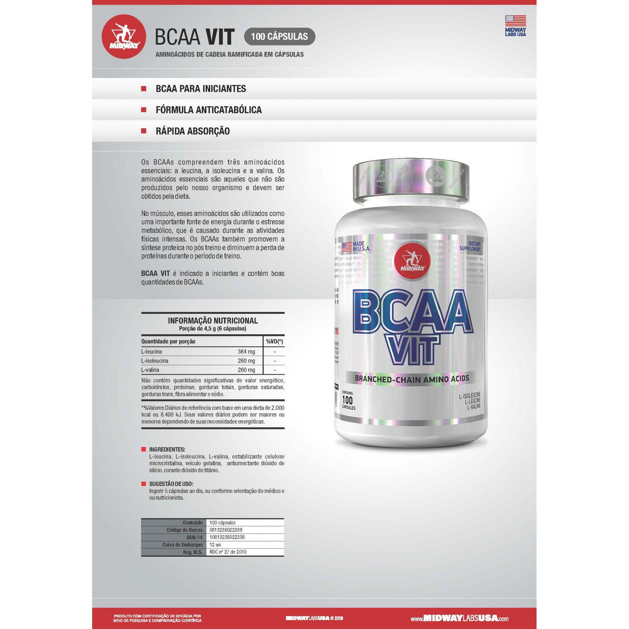 Bcaa Vit - 100 Caps