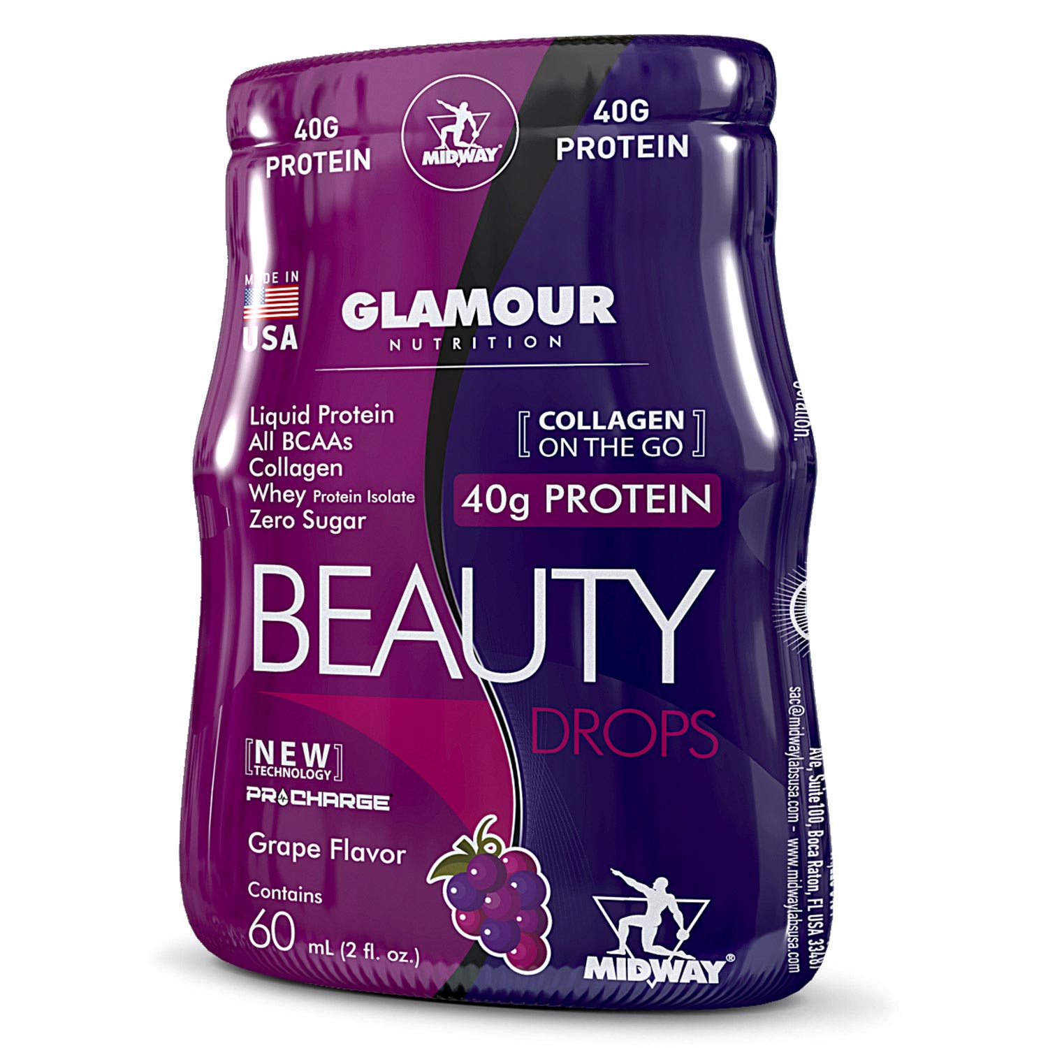 Beauty Drops Protein Glamour - 12 x 60ml