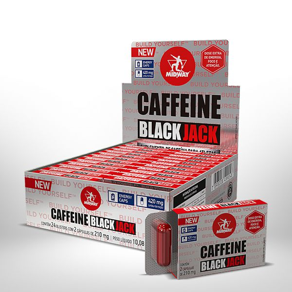 Cafeína Black Jack Caps Display 24 Un.