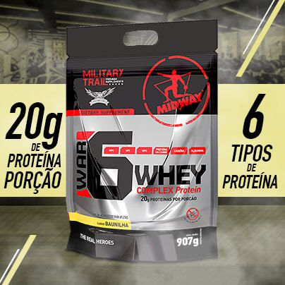 Combo 2 War 6 907g Sabores + Grátis 1 camiseta Military Trail • Black Friday
