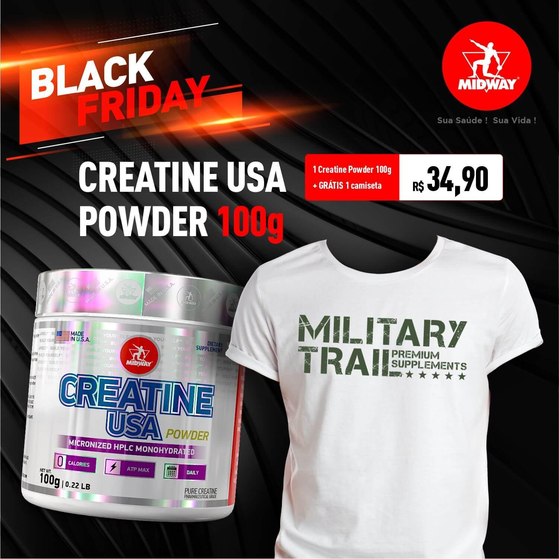 Creatine Usa • 100g + Grátis 1 camiseta • Black Friday