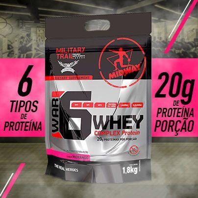 Kit 1 War 6 • 1,8kg + 1 Creatine USA 100g + 1 Gym Bag • Black Friday