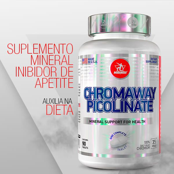 Kit 2 Chromaway Picolinate • 90 tabletes • Black Friday