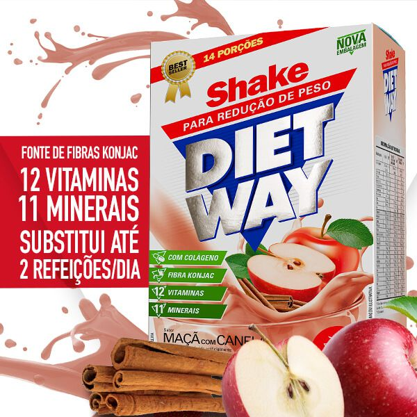 Kit 2 Diet Way Maçã com Canela • 420g • Black Friday