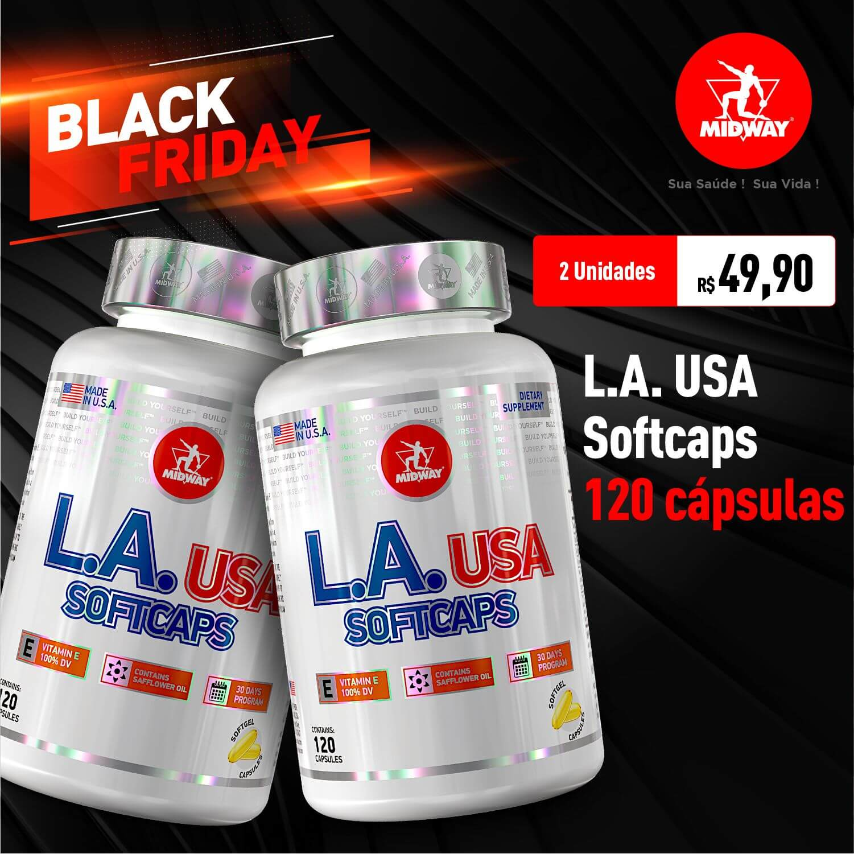 Kit 2 L.A. USA Softcaps • 120 cápsulas • Black Friday