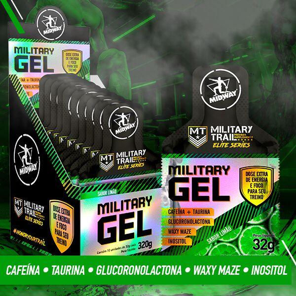 Kit 2 Military Gel Sabores • 10 un de 32g • Black Friday