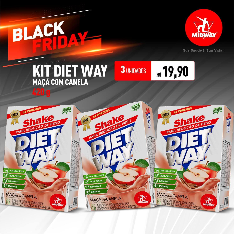 Kit 3 Diet Way Maçã com Canela • 420g • Black Friday
