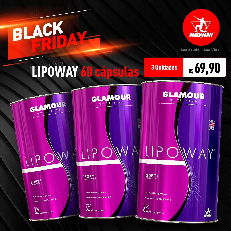 Kit 3 Lipoway • 60 softgel capsules • Black Friday