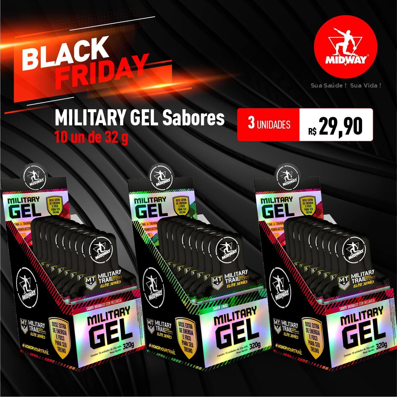 Kit 3 Military Gel Sabores • 10 un de 32g • Black Friday