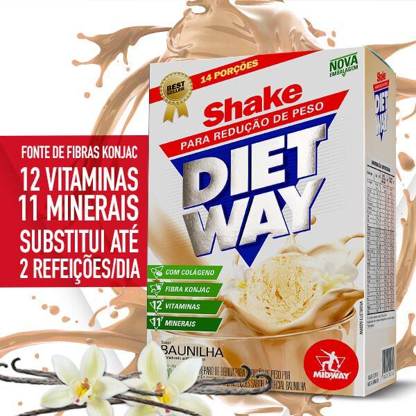Kit JUJU • Diet Way Shake 420g Baunilha + Ômega 3 120 cápsulas + Collastigen C 20 sachês + Coqueteleira Midway