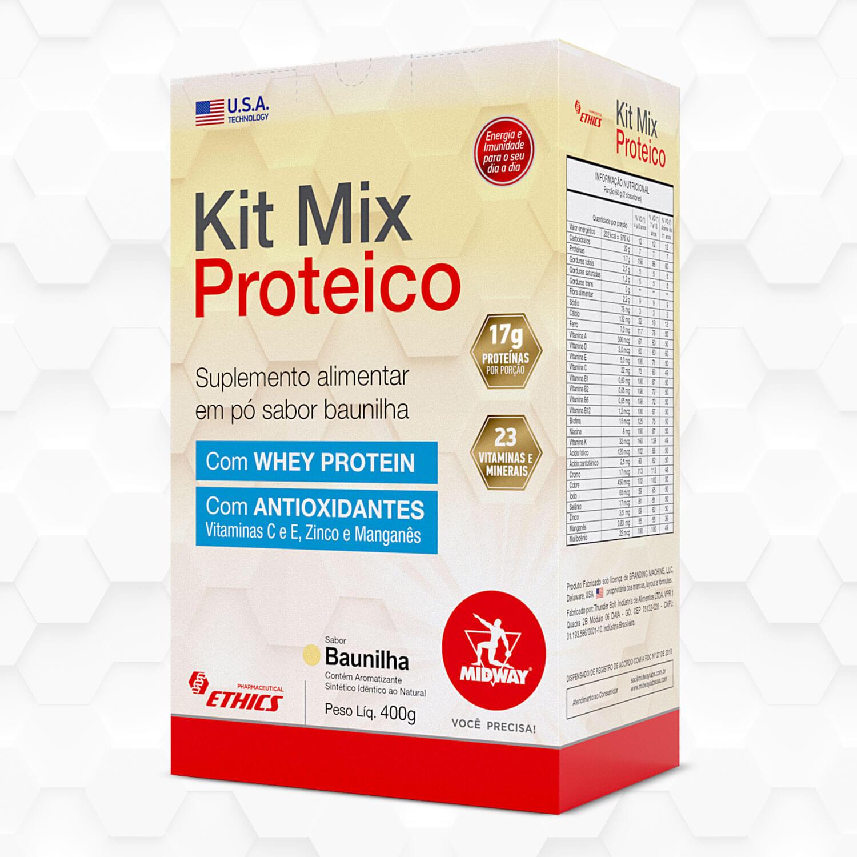 Kit Mix Proteico Sabor Baunilha 400g Ethics