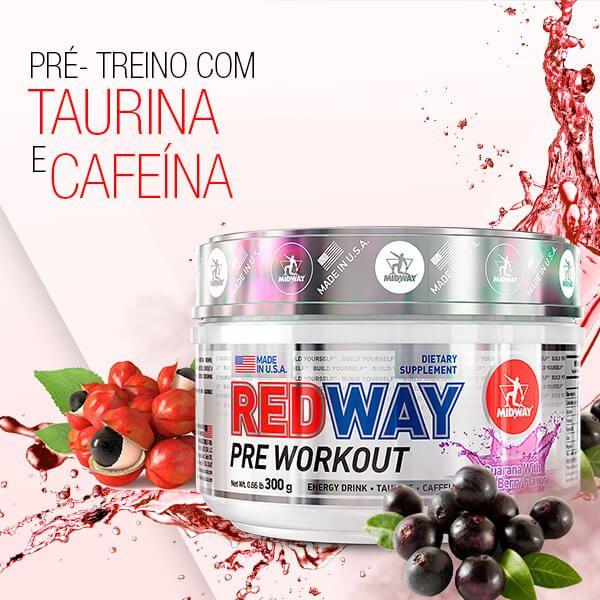 Redway Pre-Wourkout 300g Sabor Guaraná com Açaí