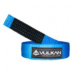 Faixa Jiu Jitsu Vulkan Original Azul Ponta Preta