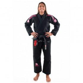 Kimono Jiu Jitsu Atama Mundial Preto Feminino