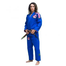 Kimono Jiu Jitsu Cascagrossa Liz Azul Feminino