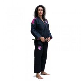 Kimono Jiu Jitsu Cascagrossa Liz Preto Feminino