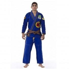 Kimono Jiu Jitsu Dragão Combat Azul Adulto Unissex
