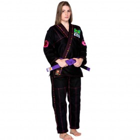Kimono Jiu Jitsu Dragão Novo Combat Preto Feminino