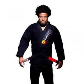 Kimono Jiu Jitsu Dragão Tribal Preto Adulto Unissex