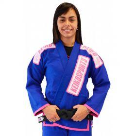 Kimono Jiu Jitsu Keiko Juvenil Pro Azul Feminino
