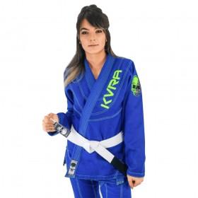 Kimono Jiu Jitsu Kvra Shadow Azul Feminino